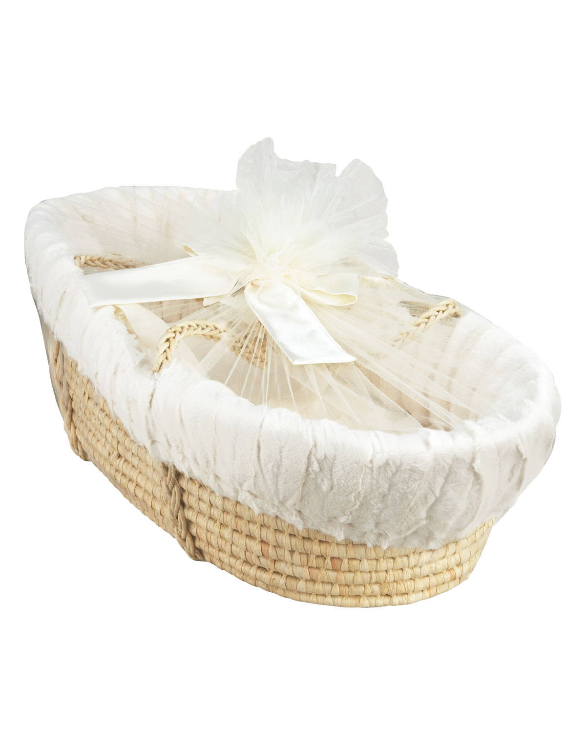 Moses Basket Plush Ivory