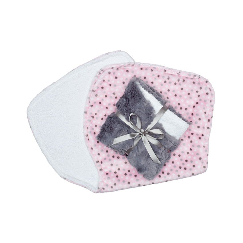 Alex Burp Cloth Blush Dot