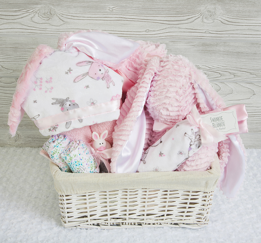 Honey Bunny Gift Basket Pink