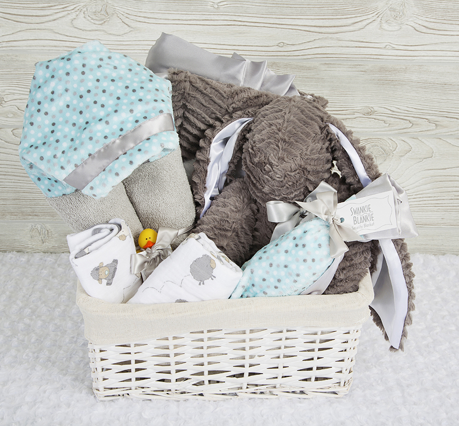 Cutie Pie Gift Basket Teal