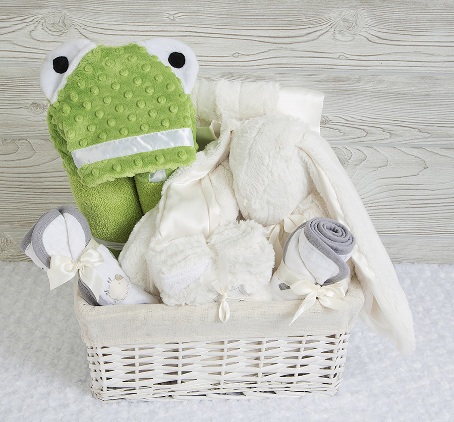 Froggy Tails Gift Basket Ivory