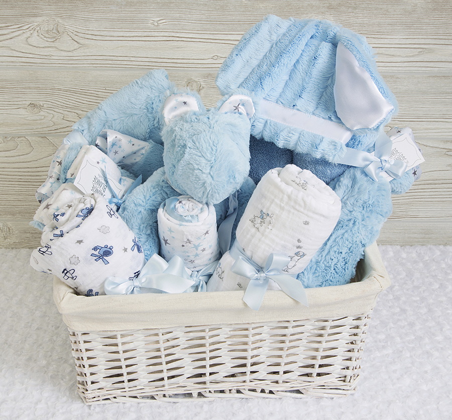 Rock-A-Bye Gift Basket Sky Blue