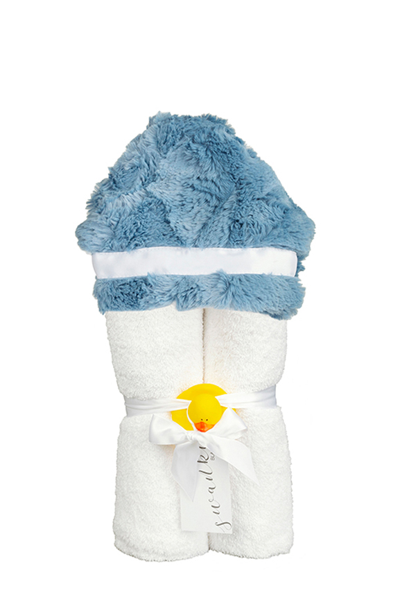 Addison Hooded Towel Blue