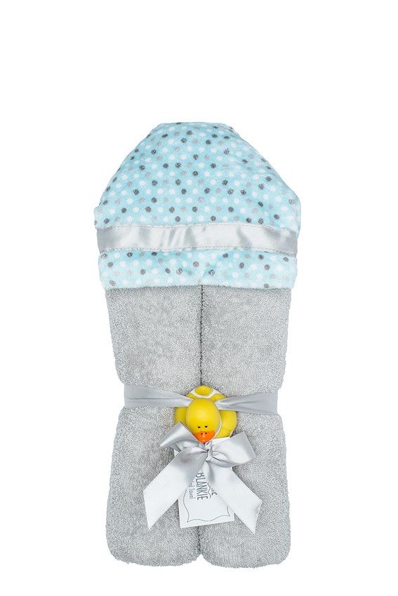 Alex Hooded Towel Aqua Dot
