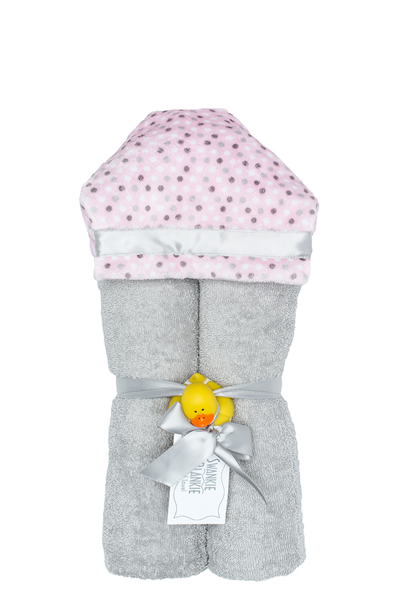 Alex Hooded Towel Blush Dot