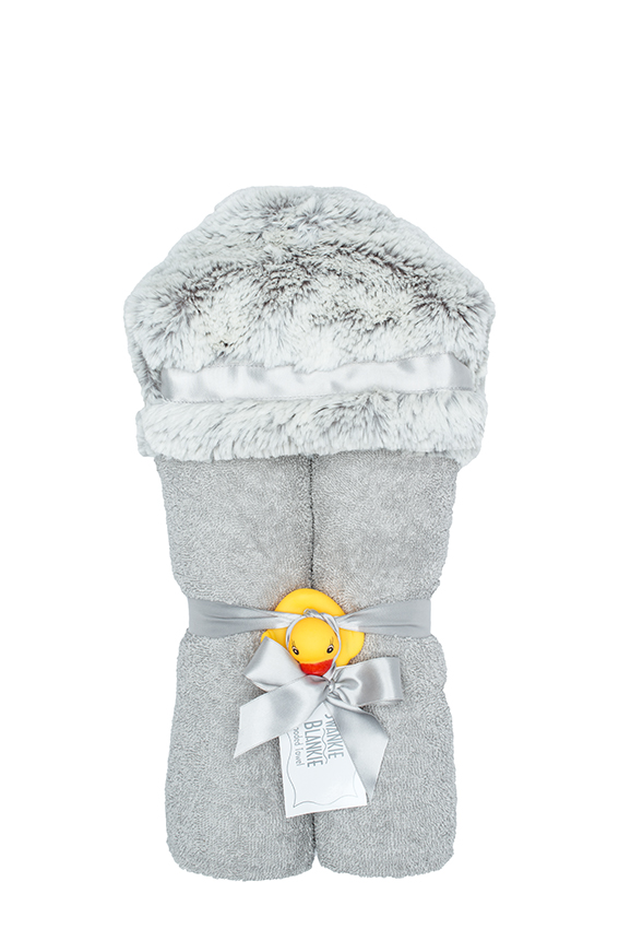 Aspen Hooded Towel Silver