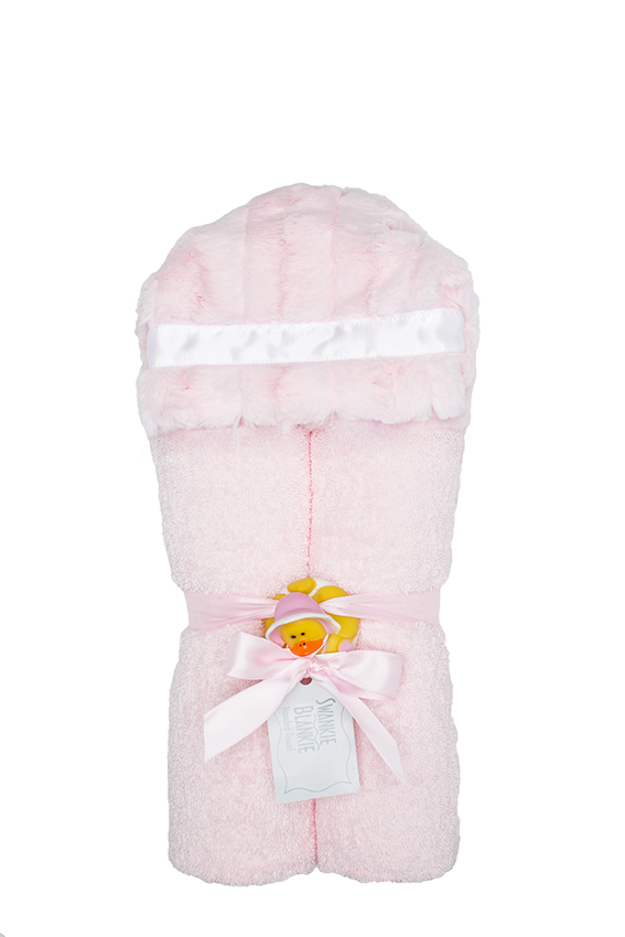 Carson Hooded Towel Blush