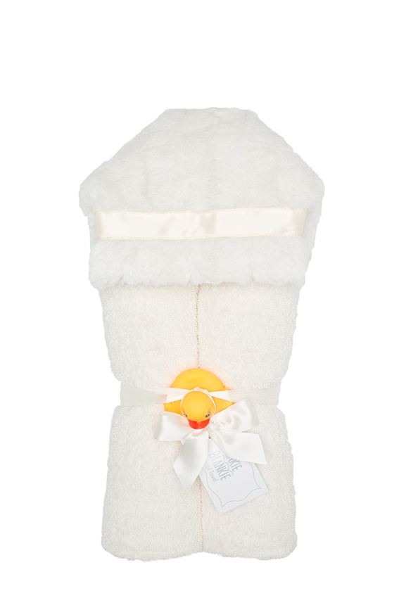 Carson Hooded Towel Ivory