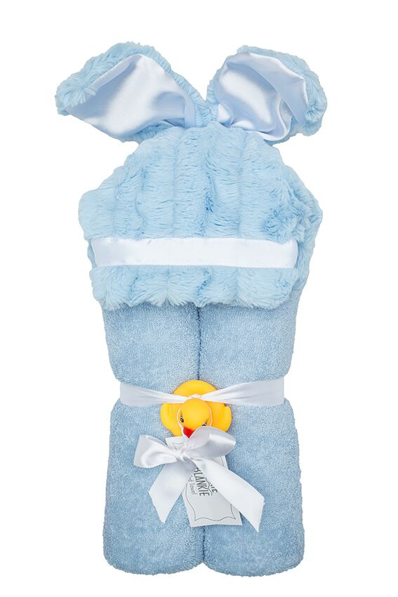 Carson Hooded Towel Sky Puppy