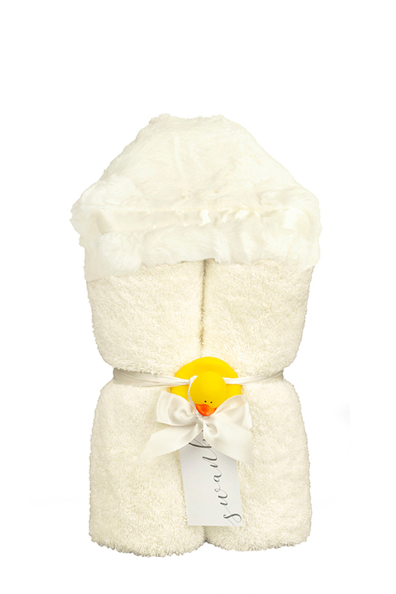 Carter Hooded Towel Ivory