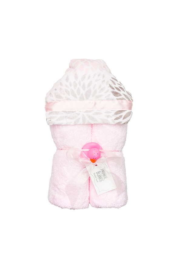 Dakota Hooded Towel Blush Blossom