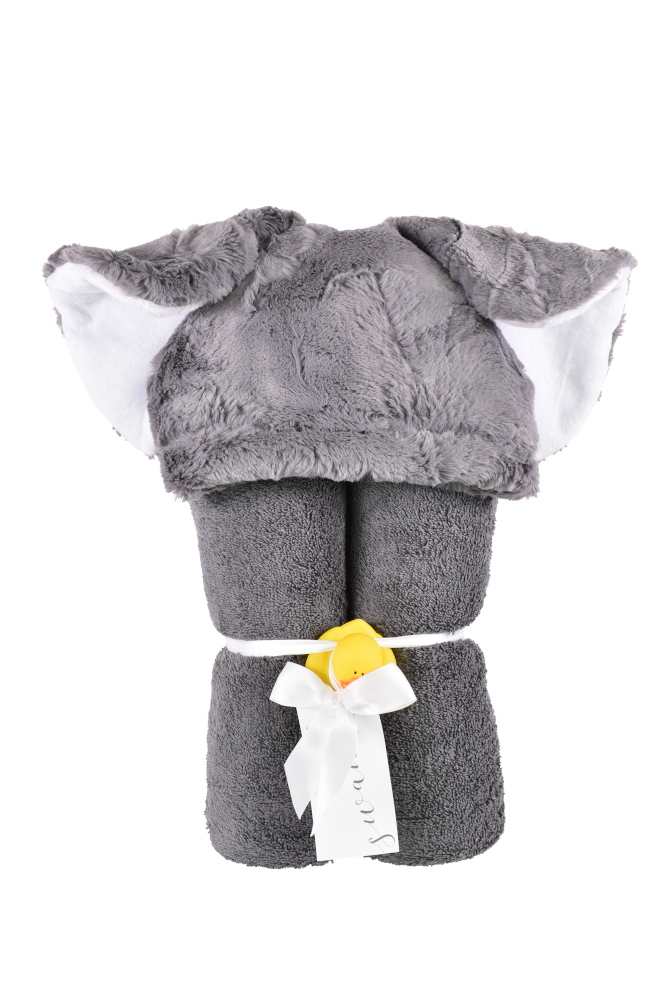 Imagine Hooded Towel Elephant Gray