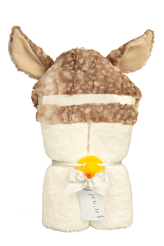 Dallas Hooded Towel Fawn Cafe