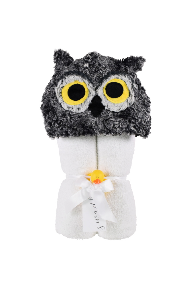 Imagine Hooded Towel Horned Owl