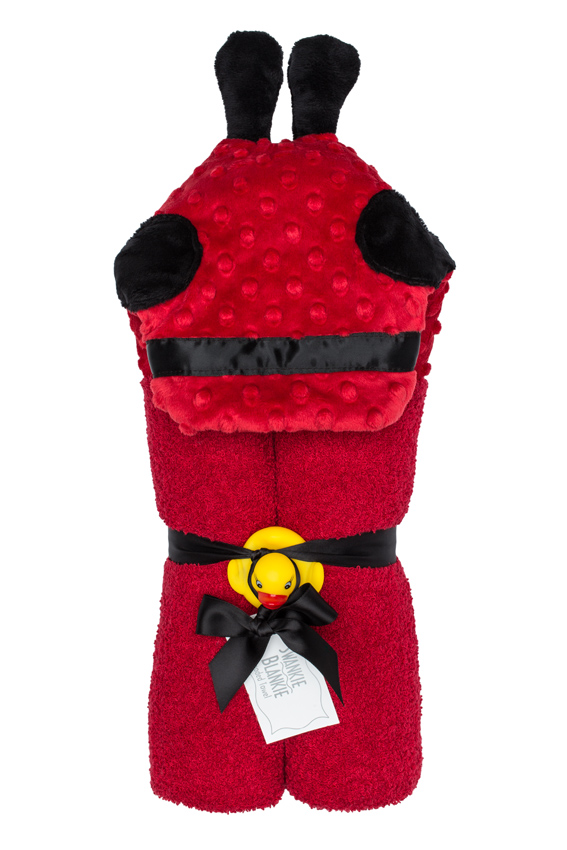 Imagine Hooded Towel Ladybug