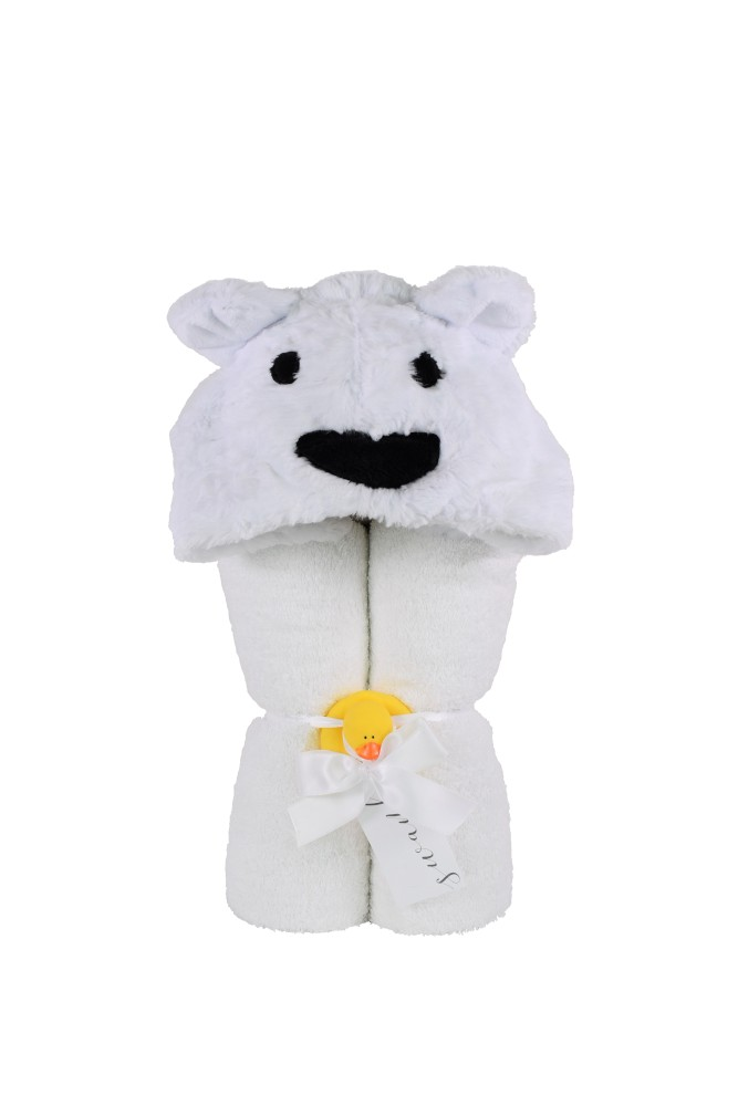 Imagine Hooded Towel Polar Bear