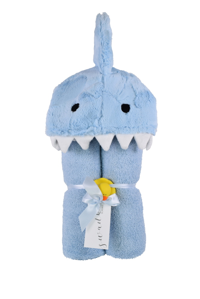 Imagine Hooded Towel Shark Blue