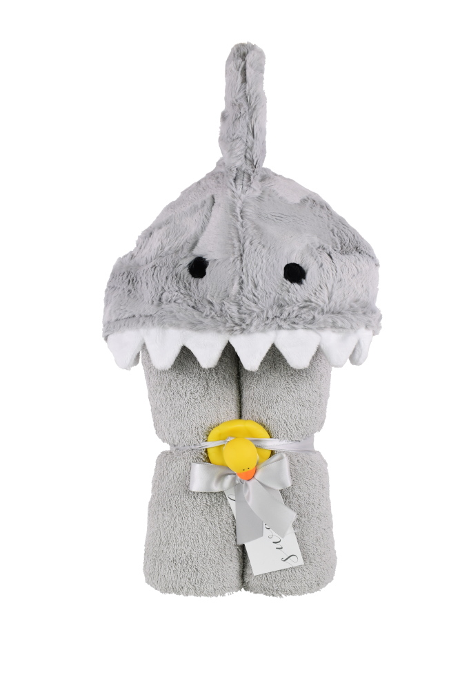 Imagine Hooded Towel Shark Gray