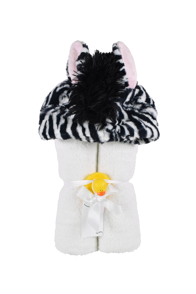 Imagine Hooded Towel Zebra