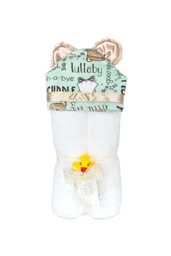 Skylar Hooded Towel Mint Lullaby