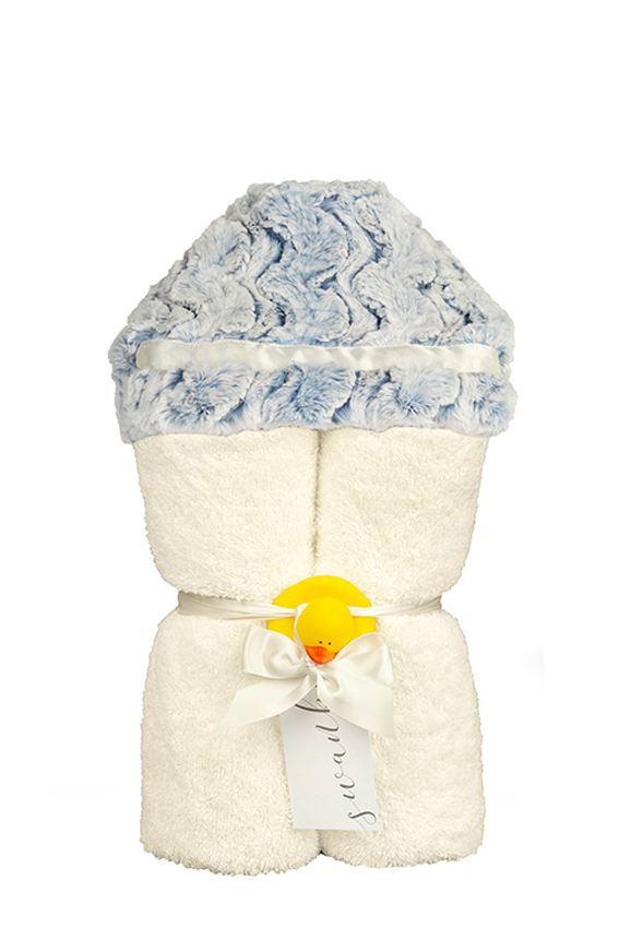 Riley Hooded Towel Blue