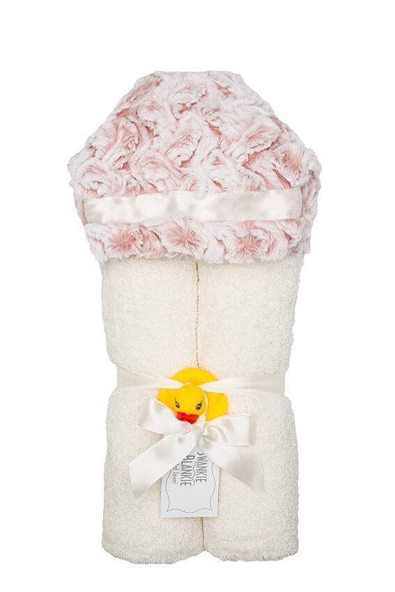 Riley Hooded Towel Rose