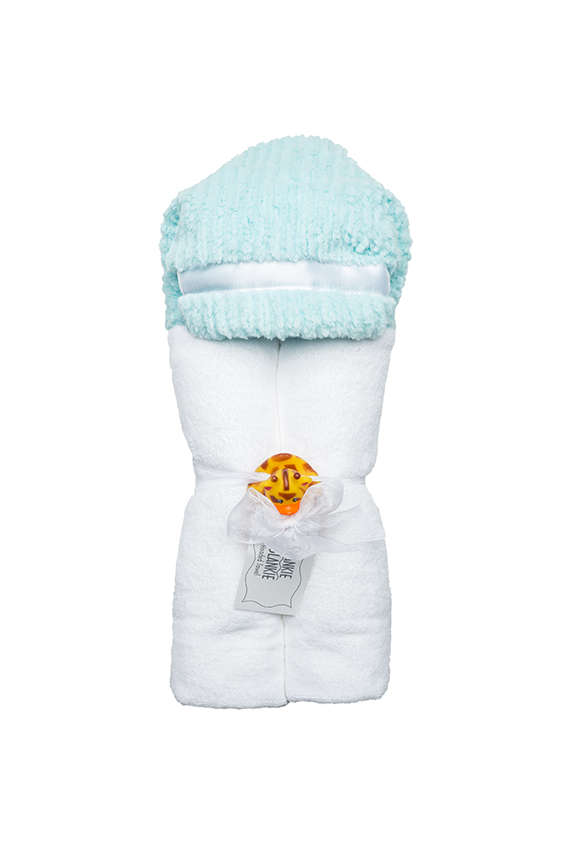 River Hooded Towel Aqua