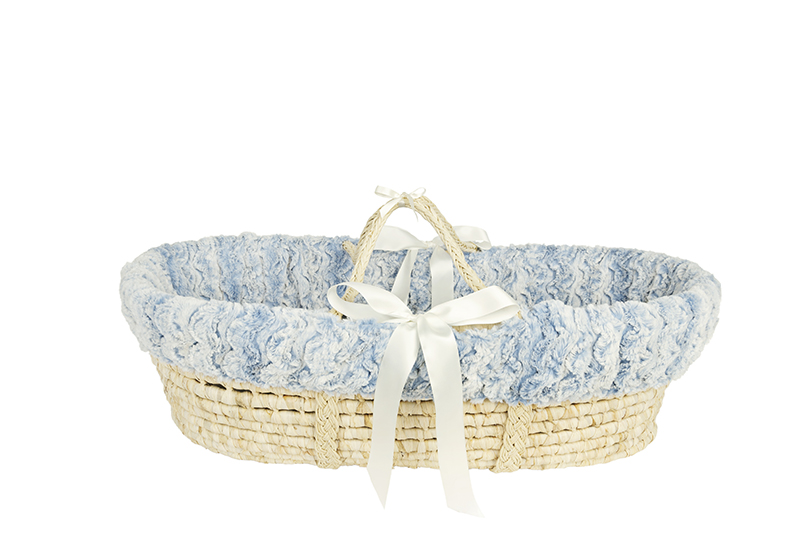 Moses Basket Riley Blue