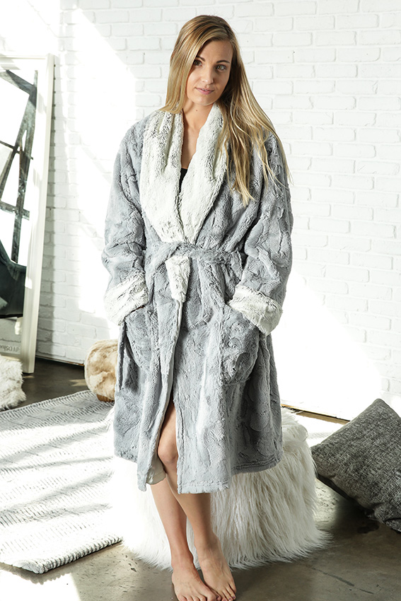 Luxury Robe Aspen Silver