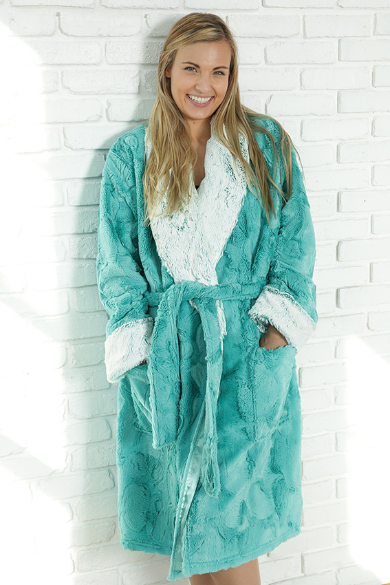 Luxury Robe Aspen Teal