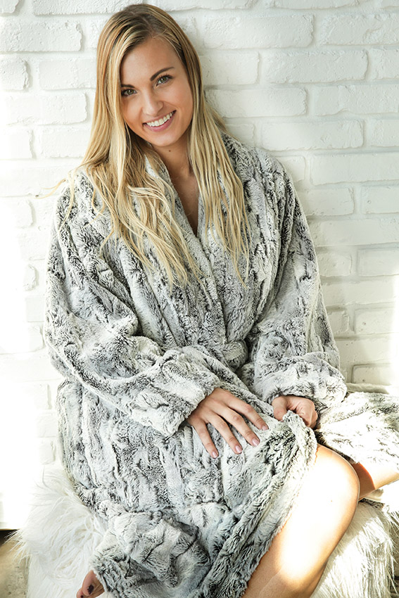 Luxury Robe Dallas Silver